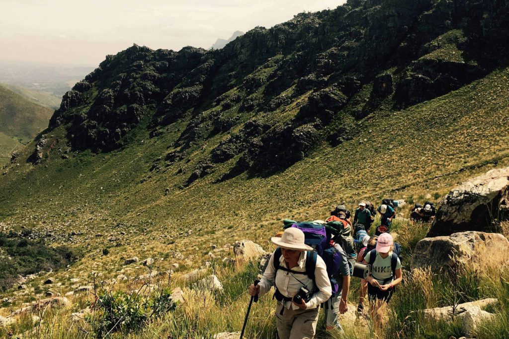 guided hiking trips jonkershoek
